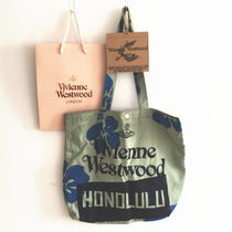 Vivienne Westwood Tropical Patterns Casual Style Canvas A4 Handmade Totes