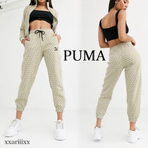 PUMA Casual Style Street Style Cotton Long Co-ord Logo Pants