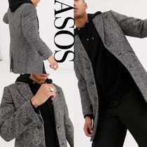 ASOS Stand Collar Coats Wool Street Style Plain Chester Coats