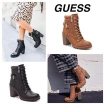 Guess Round Toe Casual Style Faux Fur Street Style Plain