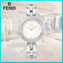 FENDI Casual Style Round Party Style Jewelry Watches Stainless