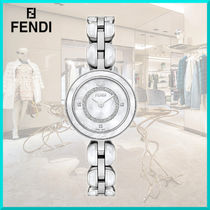 FENDI Casual Style Round Party Style Quartz Watches