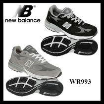 New Balance 993 Casual Style Suede Logo Low-Top Sneakers