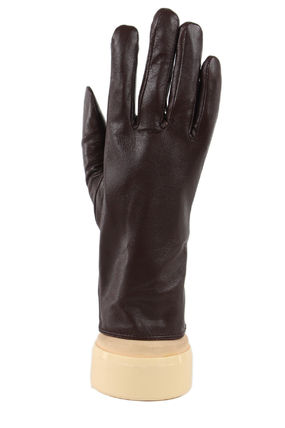 Plain Leather Bold Leather & Faux Leather Gloves