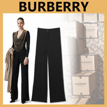 Burberry Casual Style Plain Long Office Style Elegant Style
