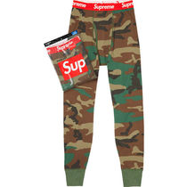 Supreme Camouflage Street Style Collaboration Cotton
