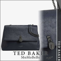 TED BAKER Casual Style Plain Leather Party Style Office Style