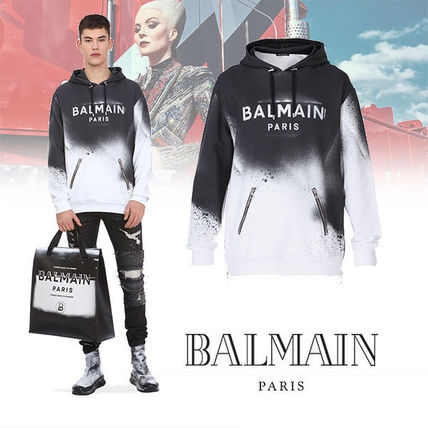 BALMAIN Vests & Gillets Cable Knit Pullovers Street Style Long Sleeves Plain Cotton