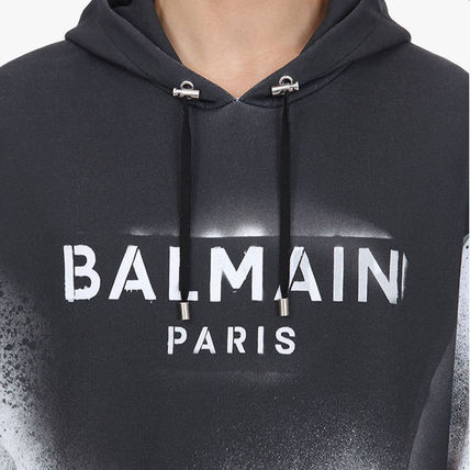 BALMAIN Vests & Gillets Cable Knit Pullovers Street Style Long Sleeves Plain Cotton 5