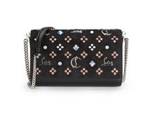 Christian Louboutin Paloma Suede Studded Chain Leather Party Style Clutches