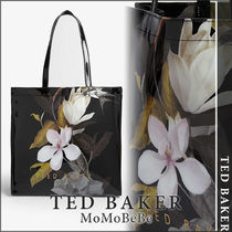 TED BAKER Flower Patterns Casual Style PVC Clothing Office Style Totes