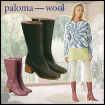 Paloma Wool Square Toe Casual Style Blended Fabrics Plain Leather