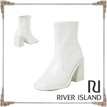 River Island Faux Fur Other Animal Patterns Block Heels Elegant Style