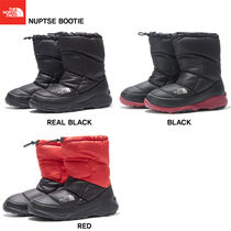 THE NORTH FACE Nuptse Plain Toe Mountain Boots Unisex Studded Street Style Plain