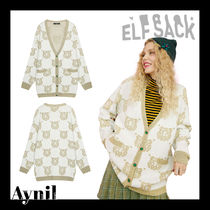 ELF SACK Casual Style Medium Cardigans