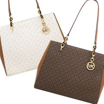 Michael Kors Leather Logo Totes