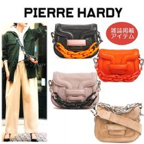 Pierre Hardy Casual Style Calfskin Blended Fabrics 2WAY Chain Plain