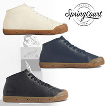 Spring Court Street Style Plain Leather Sneakers