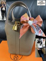 HERMES Picotin Lock Unisex Collaboration Handbags