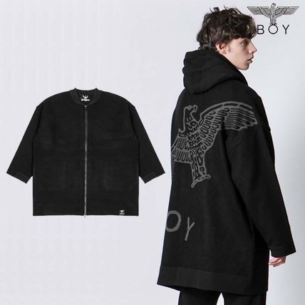 BOY LONDON Cardigans Unisex Street Style Other Animal Patterns Oversized
