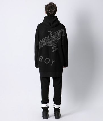 BOY LONDON Cardigans Unisex Street Style Other Animal Patterns Oversized 4