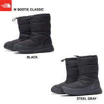 THE NORTH FACE Plain Toe Mountain Boots Rubber Sole Casual Style Studded