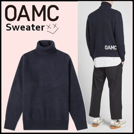 OAMC Sweaters Long Sleeves Plain Logo Designers Sweaters