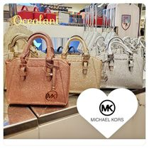 Michael Kors Casual Style 2WAY Plain Leather Party Style Elegant Style