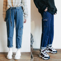 WV PROJECT Unisex Street Style Plain Cotton Jeans & Denim