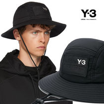 Y-3 Unisex Street Style Wide-brimmed Hats