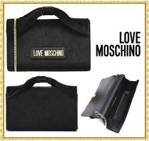 Love Moschino Plain Party Style Elegant Style Shoulder Bags