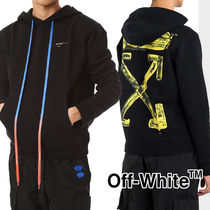 Off-White Pullovers Unisex Sweat Street Style Long Sleeves Cotton