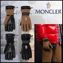 MONCLER GRENOBLE Nylon Blended Fabrics Plain Leather