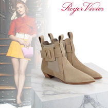 Roger Vivier Suede Leather Ankle & Booties Boots