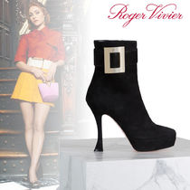 Roger Vivier Platform Suede Ankle & Booties Boots