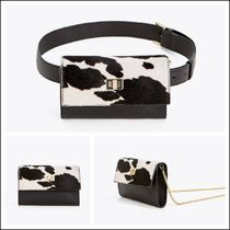 Uterque Casual Style Spawn Skin 3WAY Other Animal Patterns Leather