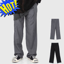 Raucohouse Slax Pants Unisex Street Style Plain Slacks Pants