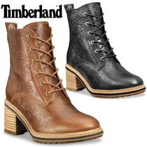 Timberland Flower Patterns Round Toe Lace-up Casual Style Unisex