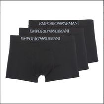 EMPORIO ARMANI Plain Cotton Logo Boxer Briefs