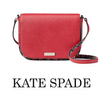kate spade new york Flower Patterns Casual Style Plain Leather Elegant Style