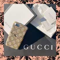 GUCCI GG Supreme Unisex Blended Fabrics Other Animal Patterns