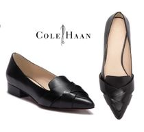 Cole Haan Plain Leather Block Heels Loafer & Moccasin Shoes