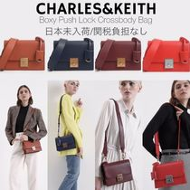 Charles&Keith Casual Style Faux Fur Plain Elegant Style Shoulder Bags