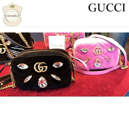 GUCCI Crossbody Logo Party Style Elegant Style Shoulder Bags