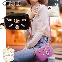 GUCCI Party Style Elegant Style Crossbody Logo Shoulder Bags