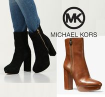 Michael Kors Platform Round Toe Casual Style Suede Plain Leather