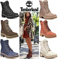 Timberland Mountain Boots Round Toe Lace-up Casual Style Unisex