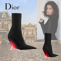Christian Dior Casual Style Elegant Style Logo Wedge Boots