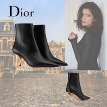 Christian Dior Casual Style Leather Elegant Style Ankle & Booties Boots