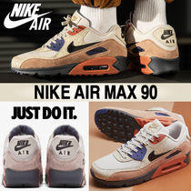 Nike AIR MAX 90 Blended Fabrics Street Style Leather Sneakers